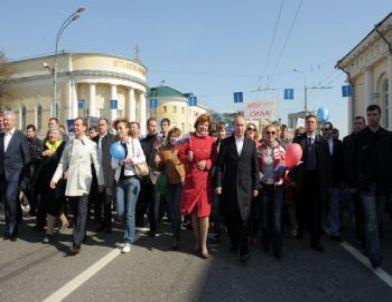 Rusya 1 Mayıs'ta Sokaklarda