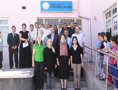 Aksaray Milli Eğitim Müdürü Deneri, Okulları Denetledi
