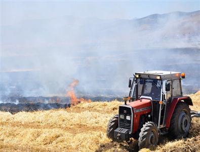 Buğday ve Arpa Ekili Tarlalarda Yangın