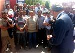 Çankırı Valisi Özcan, Eylem Yapan İşçilerle Görüştü