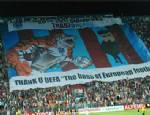 BOSS - Avni Aker'de UEFA'ya Pankartlı Teşekkür