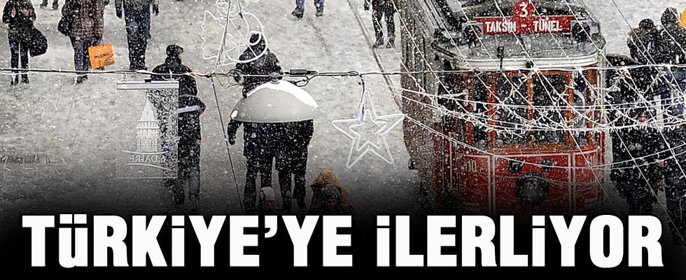 Kar, Türkiye'ye yaklaşıyor
