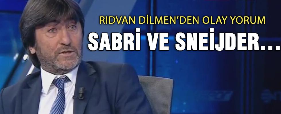 Rıdvan Dilmen: Sneijder oynattırılmıyor
