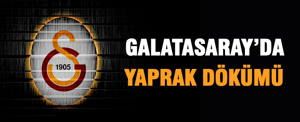 Galatasaray'da yaprak dökümü başladı