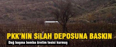 PKK'nın silah deposu basıldı