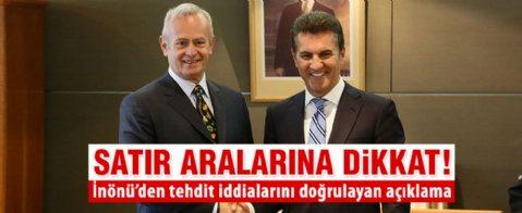 Şişli Belediye Başkanı Hayri İnönü'den tehdit açıklaması