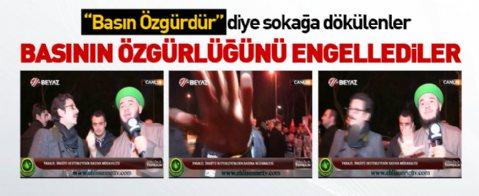 'Basın Özgür'dür naraları atan paralel örgüt destekçileri basına saldırdı