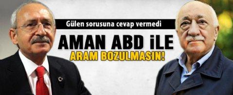 Kılıçdaroğlu, 'Gülen' sorusunu yanıtsız bıraktı