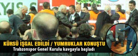 Trabzonspor'un 69. Olağan Genel Kurulu kavgayla başladı