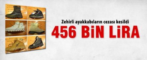 Zehirli ayakkabıya 456 bin lira ceza