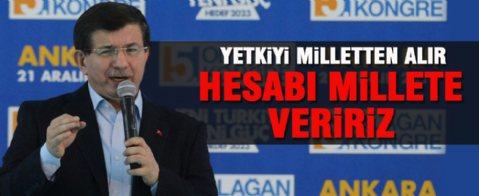 Davutoğlu AK Parti Ankara İl Kongresi'nde konuştu