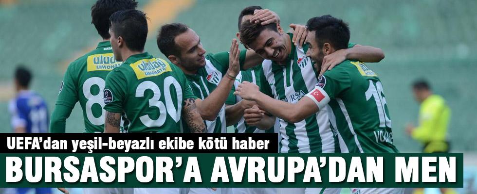 Bursaspor'a 1 yıl men cezası