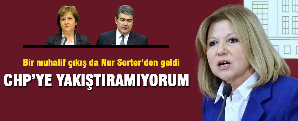 Nur Serter: CHP'ye yakıştıramıyorum