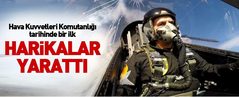 Orgeneral Öztürk Solotürk'le uçtu