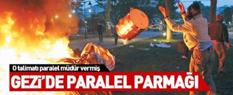 Gezi'de çadır yakma emri paralel müdürden