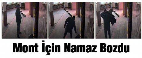 Hırsızın İlginç Anları Kameralara Yansıdı