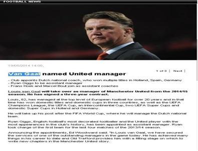 Manchester'ın Yeni Teknik Patronu Louıs Van Gaal