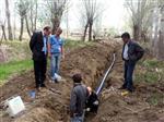 Harmantepe Köyü Altyapı Çalışmaları Sürüyor