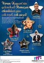İSMAİL BAKİ - Forum Kayseri'de Geleneksel Ramazan Etkinlikleri Başlıyor