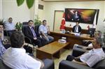 Sağlık Tesis Yöneticilerinden Genel Sekreter Çömçe'ye Ziyaret