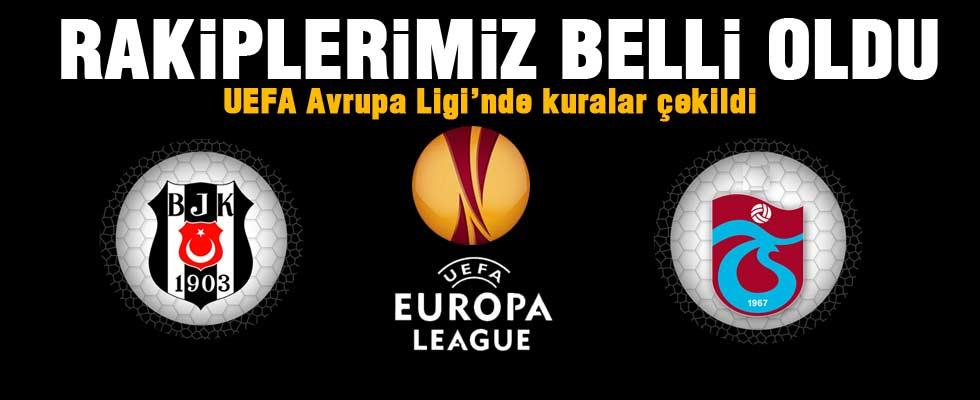 Beşiktaş ve Trabzonspor'un rakipleri belli oldu