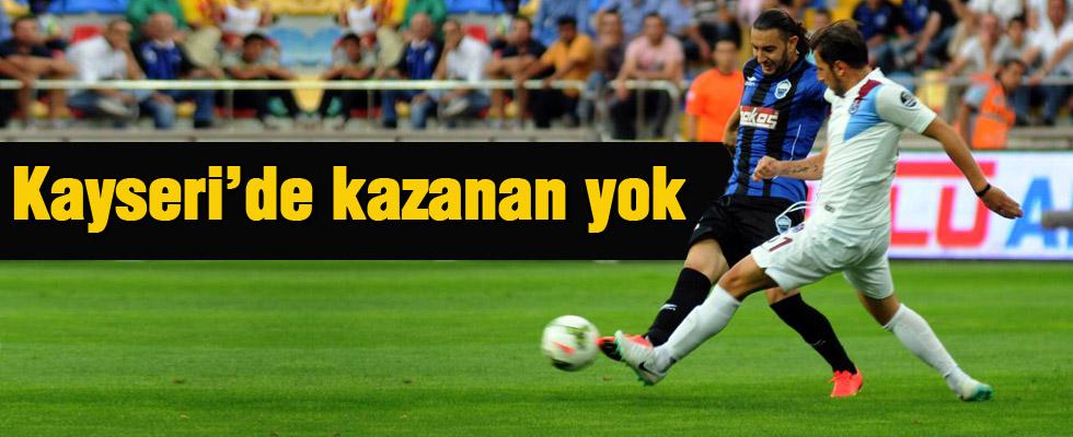 Kayseri Erciyesspor: 0 Trabzonspor: 0 maç sonucu