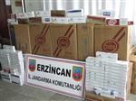 Erzincan'da 20 Bin Paket Kaçak Sigara Ele Geçirildi