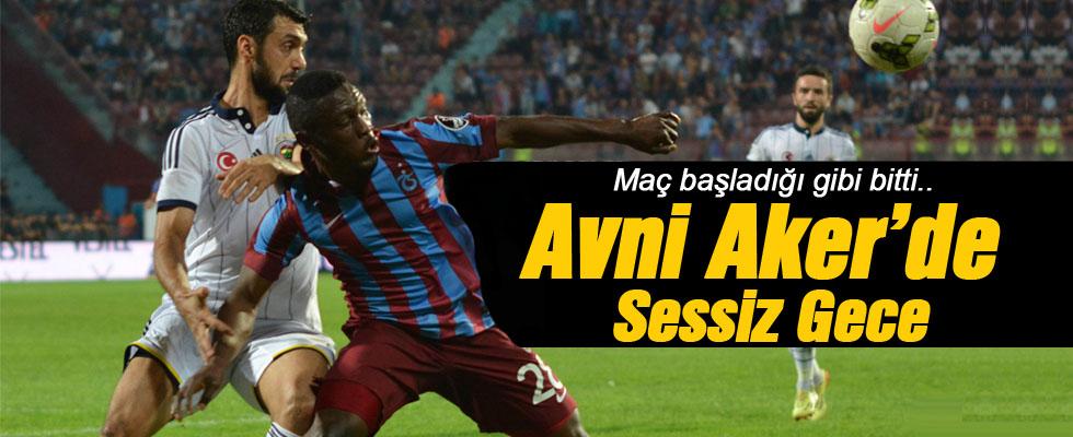 Trabzonspor - Fenerbahçe: 0-0 Maç Sonucu