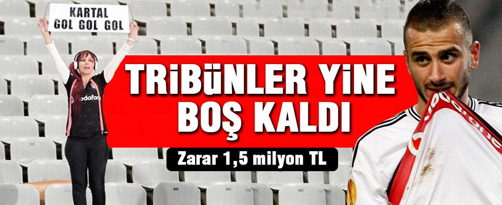 Beşiktaş tribünleri bom boş
