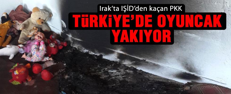 PKK oyuncakaları bile yaktı