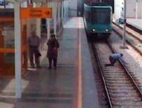 İNTIHAR - Ölmek için kendini tramvayın önüne attı ama...