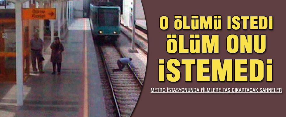 Ölmek için kendini tramvayın önüne attı ama...