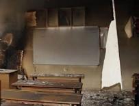 Van'da okullara molotoflu saldırı