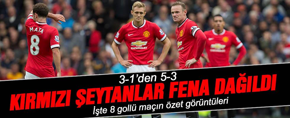 Leicester - Manchester United: 5-3 Maç Sonucu (VİDEO)
