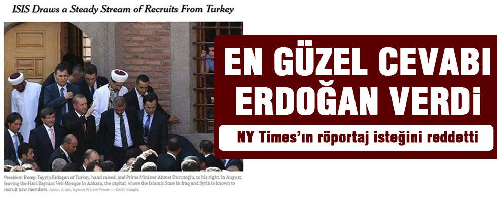 Erdoğan'dan New York Times'a ret