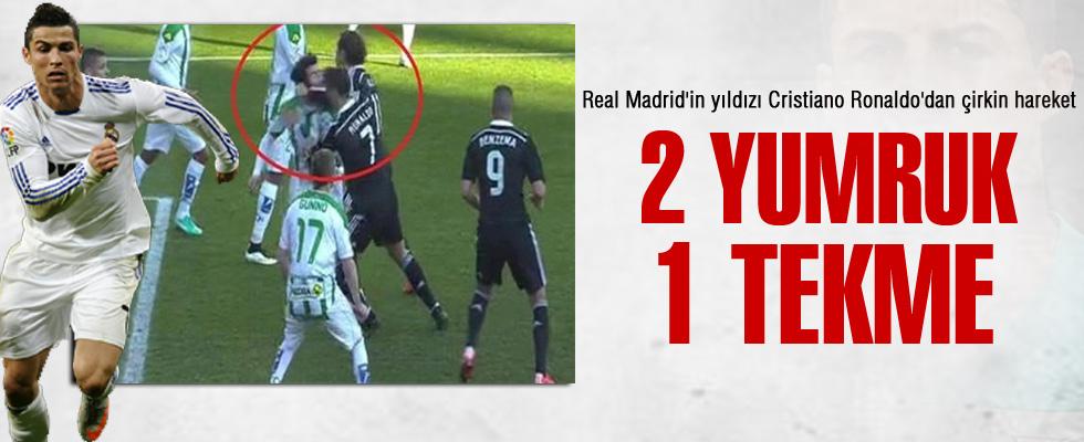 Cristiano Ronaldo rakibine tekme attı kırmızı kartı gördü