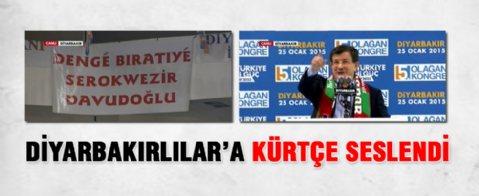 Başbakan Davutoğlu, Diyarbakır'da konuşuyor