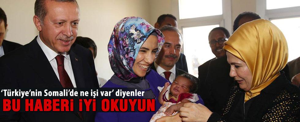 Cumhurbaşkanı Erdoğan Somali'de  hastane açılışı yaptı