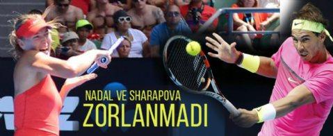 Nadal ve Sharapova çeyrek finalde