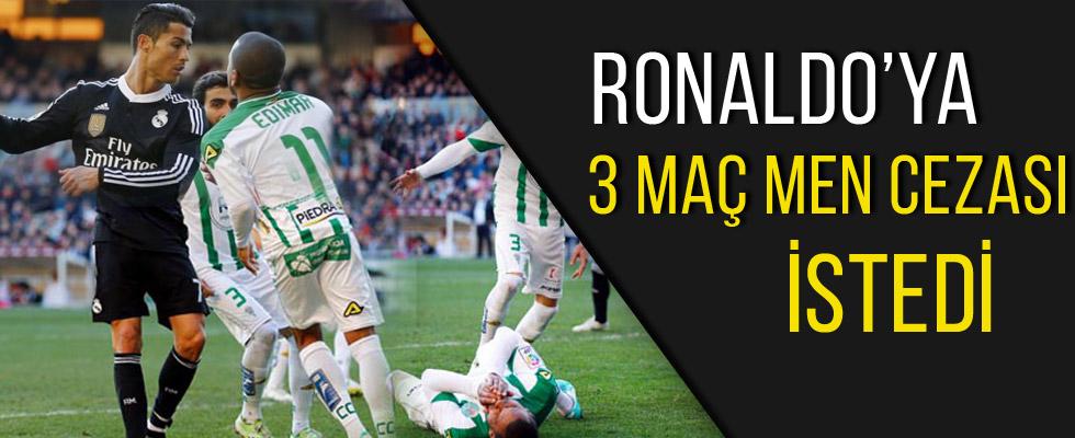 Ronaldo'ya 3 maç men cezası istedi