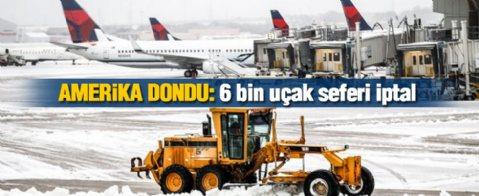 6 bin uçak seferi iptal edildi!