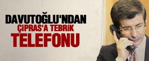 Davutoğlu'ndan Çipras'a tebrik telefonu