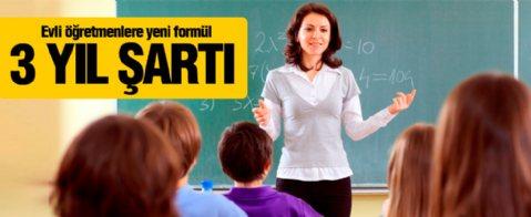Evli öğretmenler için MEB formülü buldu