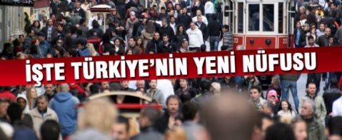 Türkiye'nin nüfusu 77 milyonu geçti