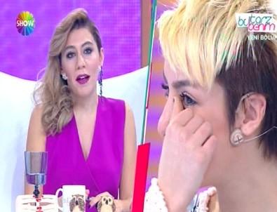 Yarışmacının gözyaşları