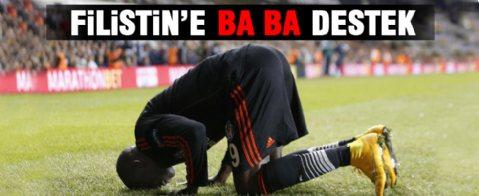 Demba Ba'da Filistin'e destek