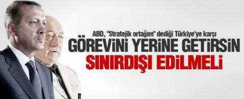 Erdoğan: ABD Gülen'i sınırdışı etmeli
