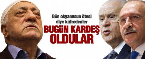 Erdoğan: Dün küfrediyorlardı... Bugün kardeş olmuşlar