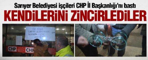 İşçiler CHP İstanbul İl Başkanlığı'nı bastı...