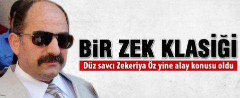 Zekeriya Öz baltayı taşa vurdu